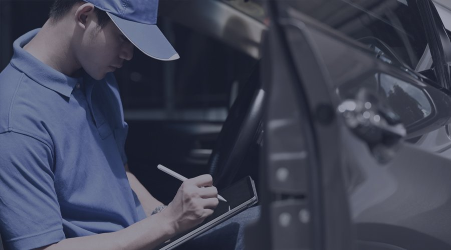 Driver recording delivery on paper