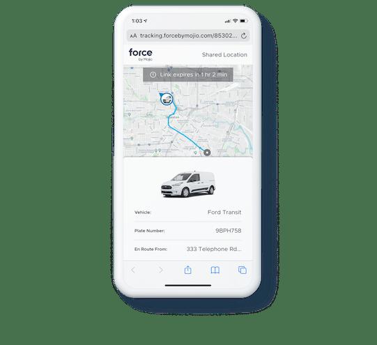Share driver location